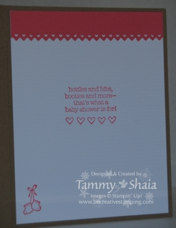 Baby Bundle inside card