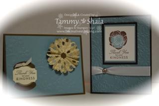 2 cards made @ Martha's