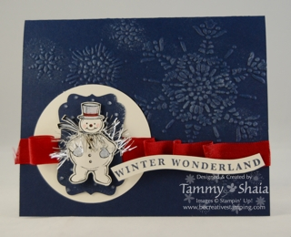 Jolly Snowman card