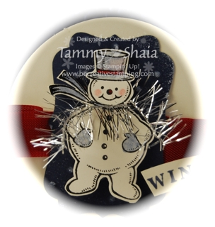 Jolly Snowman--closeup