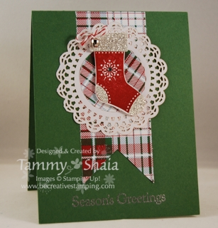 Stitched Stocking doily