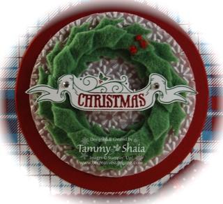 Wreath card close-up