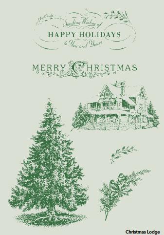 Christmas Lodge stamp set
