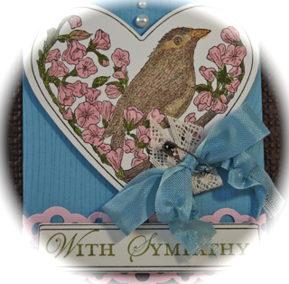 Take it to heart sympathy card close-up