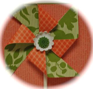 Pinwheel card close-up