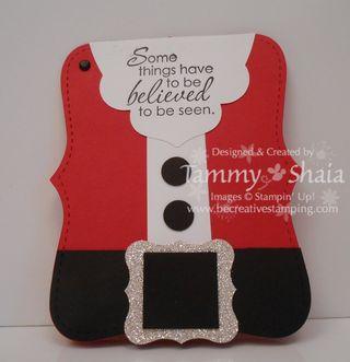 Santa Gift Card Holder #1