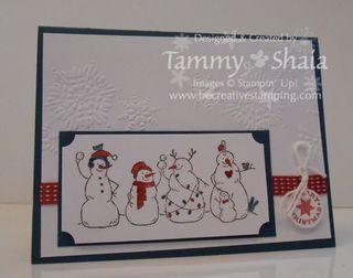 Frosty Friends card