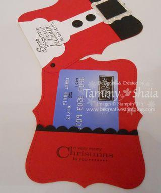 Santa Gift Card Holder #2