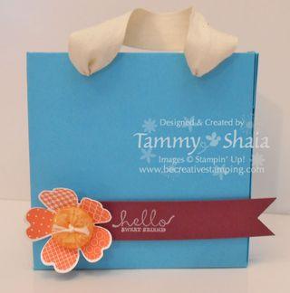 Flower shop paper bag