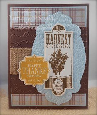 Harvest of Thanks stamp set