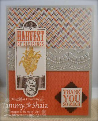 Harvest of Thanks Stamp Set #2