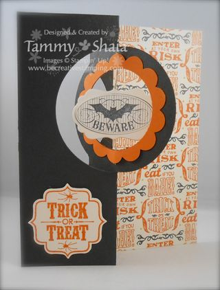Halloween Thinlits Circle Card