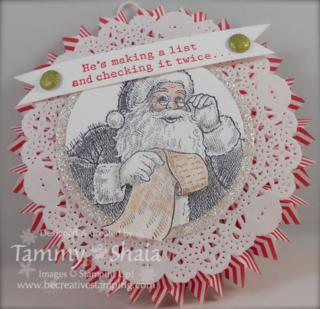 Santa's List Ornament #2