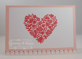Flowerful Heart Stamp