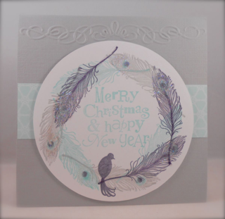 Fine Feathers Christmas card