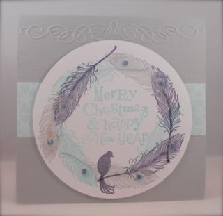 Fine Feathers Christmas card