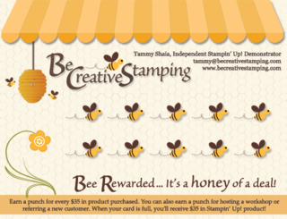 Bee Reward Card