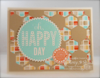 Starburst Sayings and Hexagon Hive Card