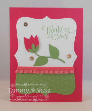 Easy to make flower card