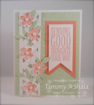 Perfect Pennants & Petite Petals Card