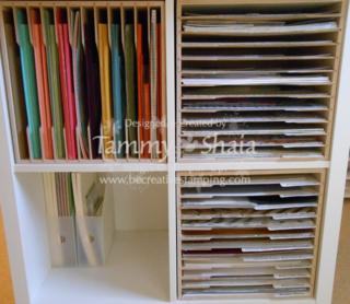 Stamp N Storage Paper Holder