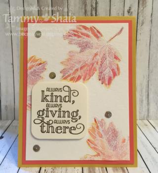 Vintage Leaves Card
