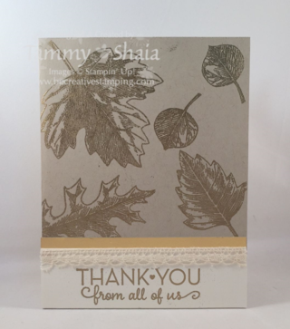 Vintage Leaves Card