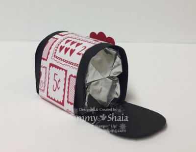 Sending love designer paper stack mailbox 2