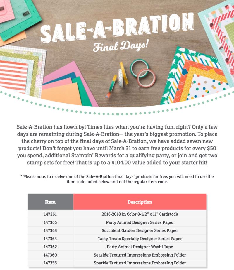 Sale-A-Bration Final Days Shot