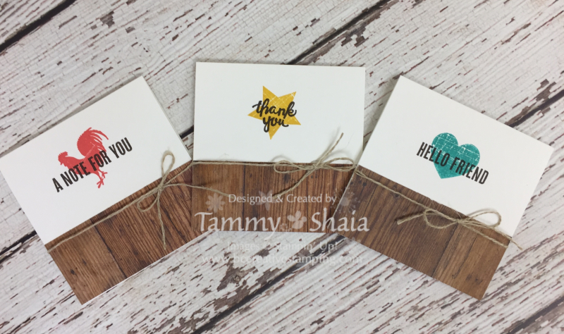Wood Words 3 x 3 Cards