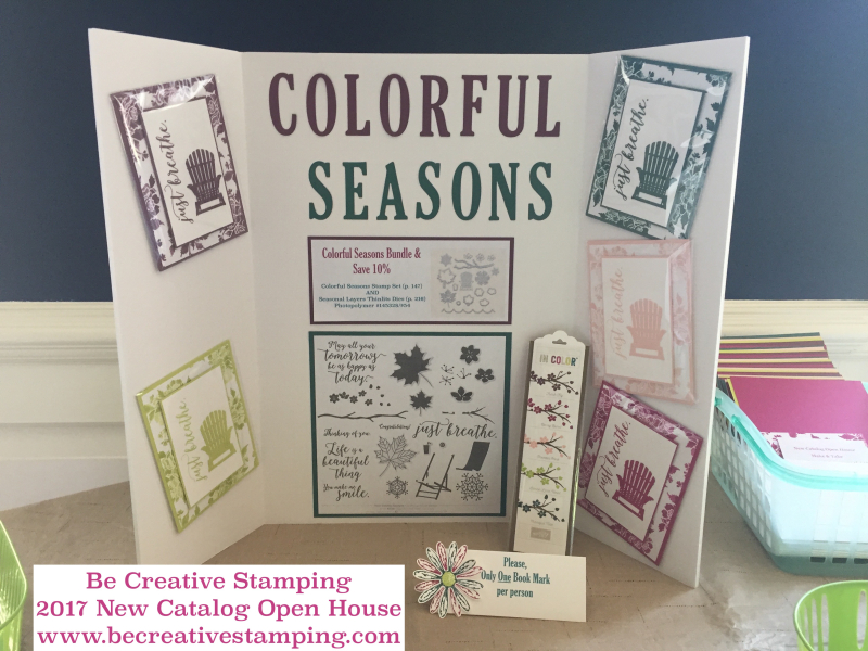 Stampin' Up! New Catalog Open House Colorful Seasons