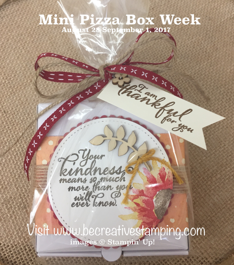 Mini Pizza Box Painted Autumn Suite