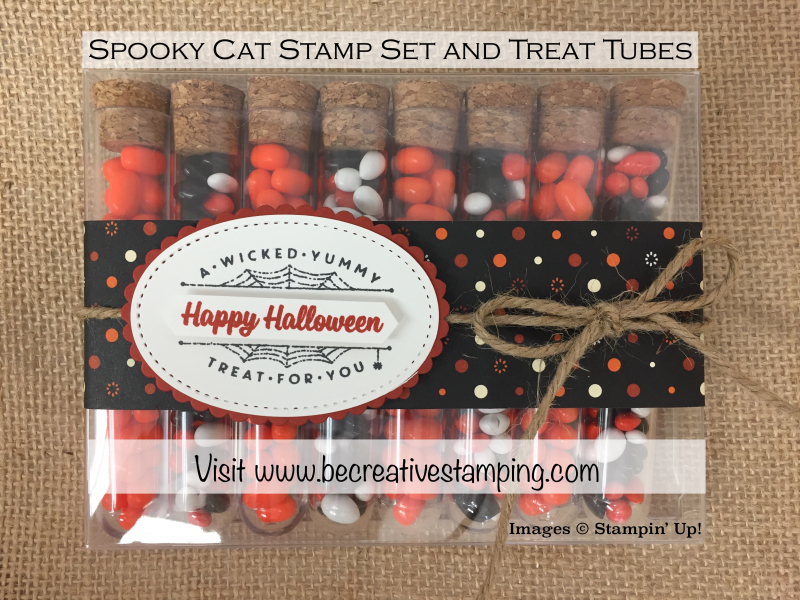 Spooky Cat Stamp Set Treat Tubes 1