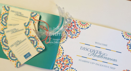 Stampin' Up! Incentive Trip Documents 4