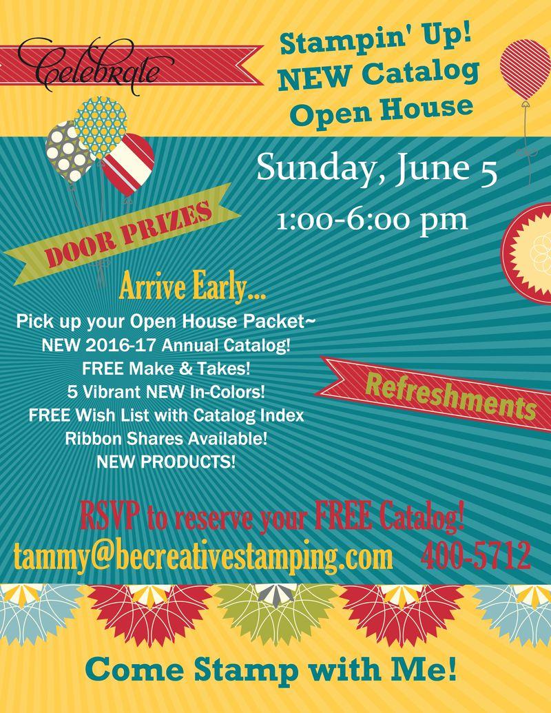 2016 Open House Flyer