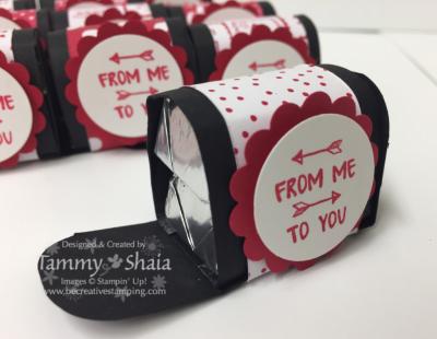 Sending love designer paper stack mailbox