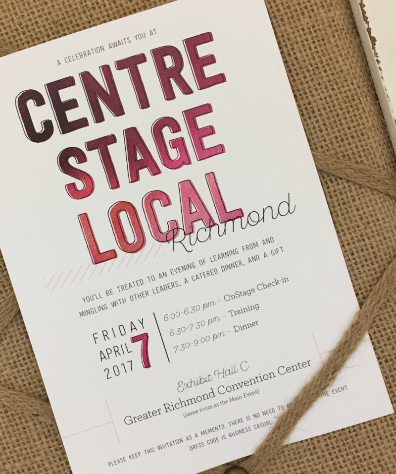 Stampin' Up! Centre Stage Invitation
