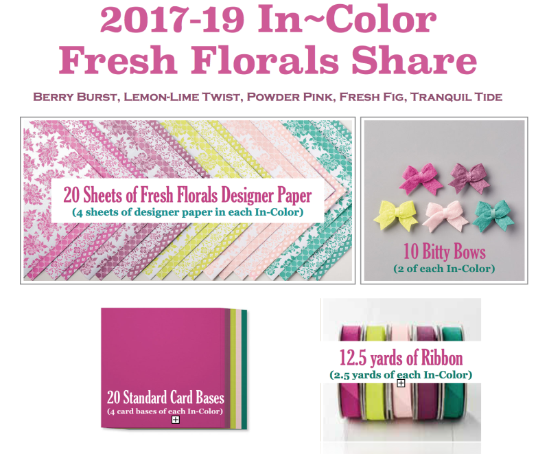 2017-19 Stampin' Up! Product Share