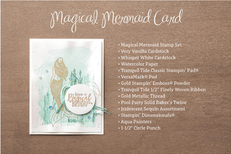 Magical Mermaid Card