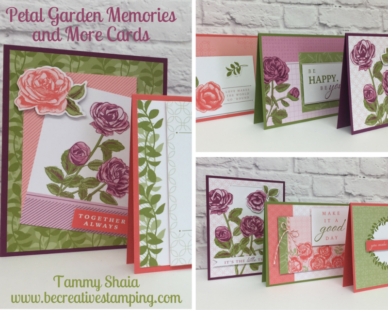 Petal Garden Memories and More Cards