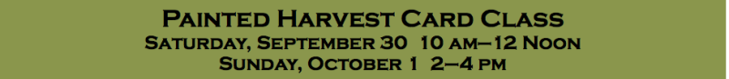 Painted Harvest Stamp Class