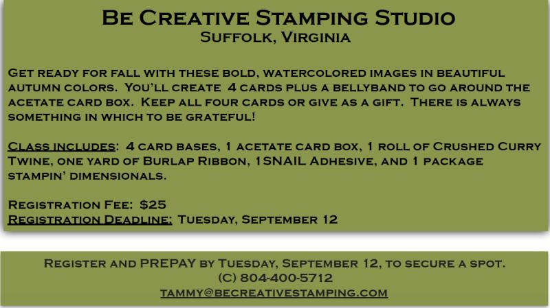 Painted Harvest Stamp Class Description