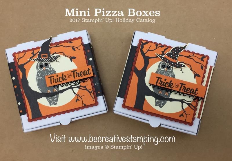 Spooky Night Suite Mini Pizza Box
