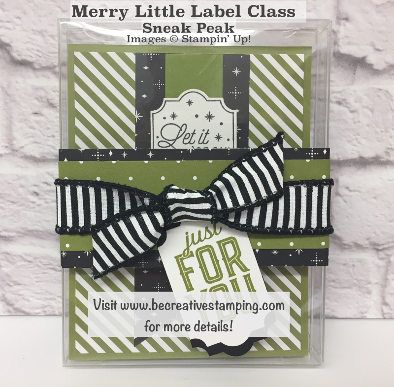 Merry Little Labels Stamp Set 1