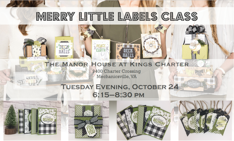 Merry Little Labels Stamp Class (blog)