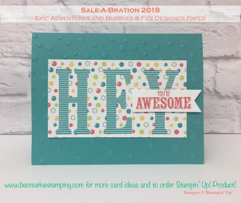 Bubbles & Fizz Designer Paper