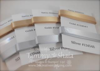Gold & Silver Satin Ribbon Share
