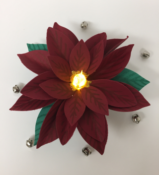Festive Flower Builder Punch tea light