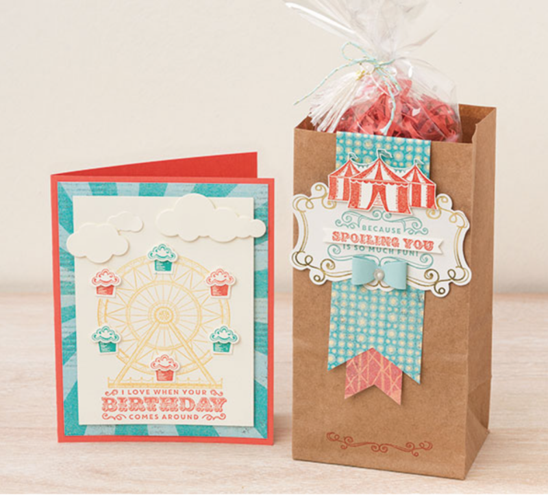 Carousel Birthday Stamp Set