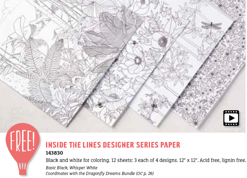 Inside the Inside the Lines Designer Paper